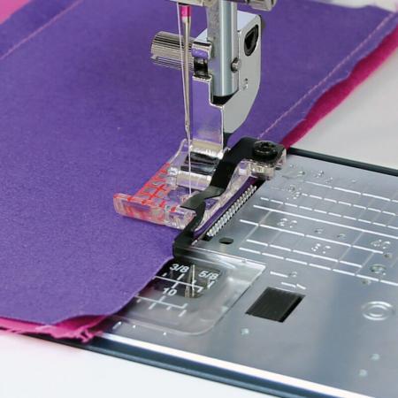 """Stopka krawędziowa 1/4"""" (6 mm) do ściegu prostego (do maszyn z szerokością ściegu 9 mm), fig. 1"""