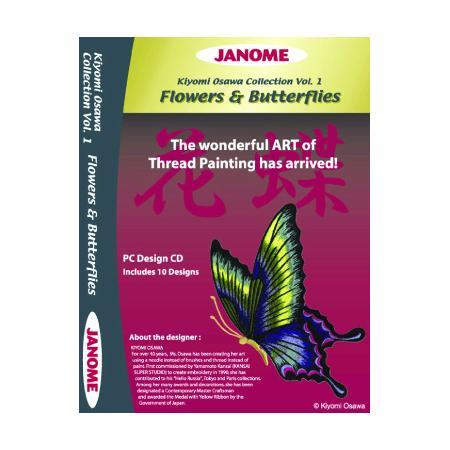 Kolekcja haftów JANOME Flowers & Butterflies, fig. 1
