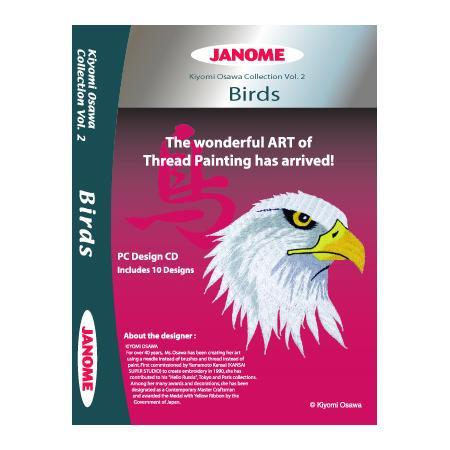 Kolekcja haftów JANOME Birds, fig. 1