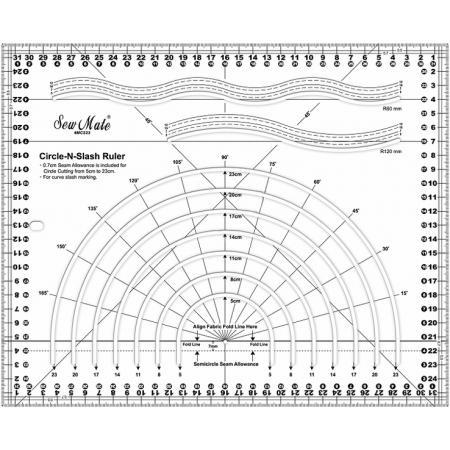 Linijka do cięcia po ukosie i okręgu (32x26cm), fig. 1