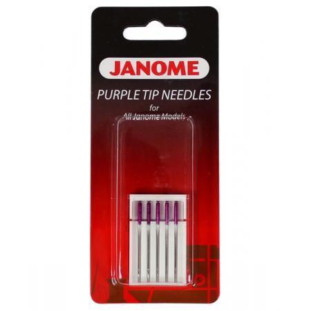 Igły do maszyn i hafciarek Janome PURPLE TIP do tkanin i dzianin, fig. 1