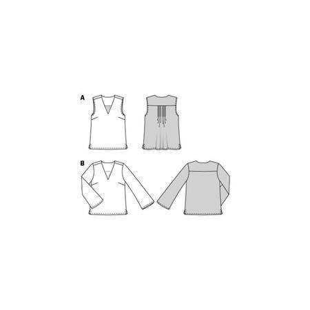 Wykrój BURDA: bluzka itop zdekoltem wszpic, fig. 11