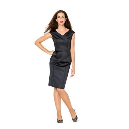 Wykrój BURDA: sukienka zefektem kopertowym, dekoltem wszpic i obniżoną linią ramion, fig. 2