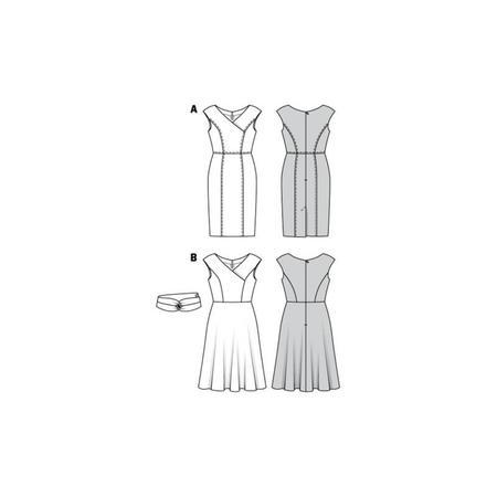 Wykrój BURDA: sukienka zefektem kopertowym, dekoltem wszpic i obniżoną linią ramion, fig. 10