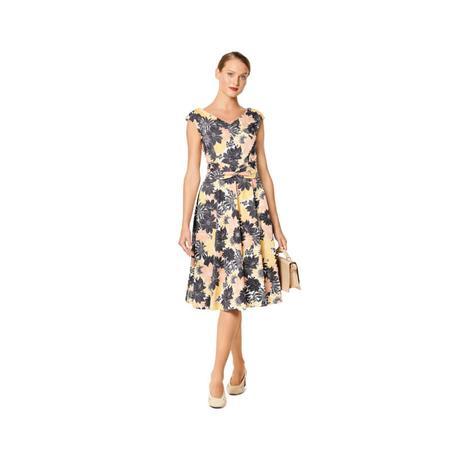 Wykrój BURDA: sukienka zefektem kopertowym, dekoltem wszpic i obniżoną linią ramion, fig. 3