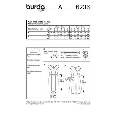 Wykrój BURDA: sukienka zefektem kopertowym, dekoltem wszpic i obniżoną linią ramion, fig. 9