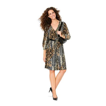 Wykrój BURDA: sukienka zzapięciem na guziki, o kroju koszulowym, zdekoltem wszpic, fig. 2