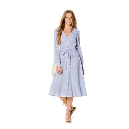 Wykrój BURDA: sukienka zzapięciem na guziki, o kroju koszulowym, zdekoltem wszpic, fig. 3