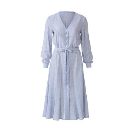 Wykrój BURDA: sukienka zzapięciem na guziki, o kroju koszulowym, zdekoltem wszpic, fig. 6