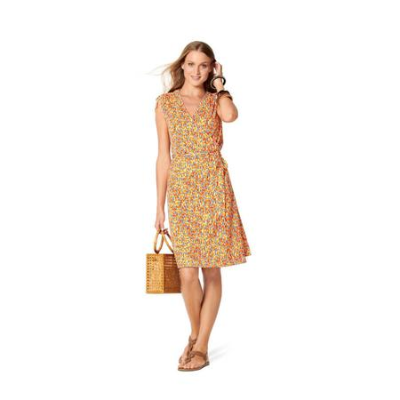 Wykrój BURDA: sukienka kopertowa z marszczeniami na ramionach, fig. 2
