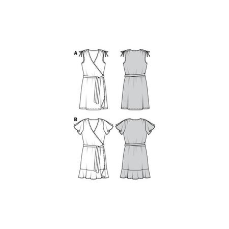 Wykrój BURDA: sukienka kopertowa z marszczeniami na ramionach, fig. 10