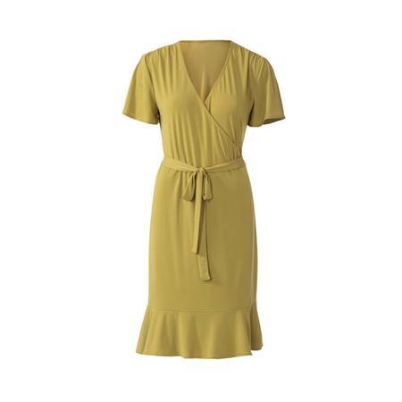 Wykrój BURDA: sukienka kopertowa z marszczeniami na ramionach, fig. 6