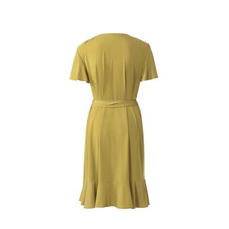 Wykrój BURDA: sukienka kopertowa z marszczeniami na ramionach, fig. 7