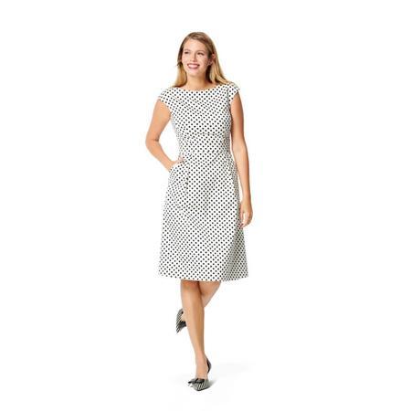 Wykrój BURDA: sukienka zpanelem wtalii i obniżoną linią ramion, fig. 2