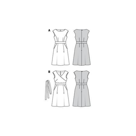 Wykrój BURDA: sukienka zpanelem wtalii i obniżoną linią ramion, fig. 10