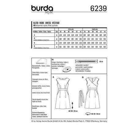 Wykrój BURDA: sukienka zpanelem wtalii i obniżoną linią ramion, fig. 8