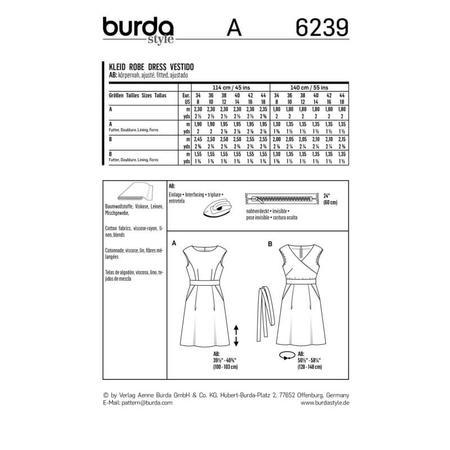 Wykrój BURDA: sukienka zpanelem wtalii i obniżoną linią ramion, fig. 9