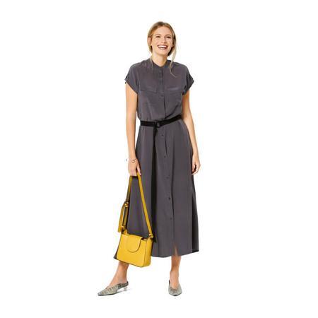 Wykrój BURDA: sukienka zzapięciem na guziki, stójką ifalbankami, fig. 3