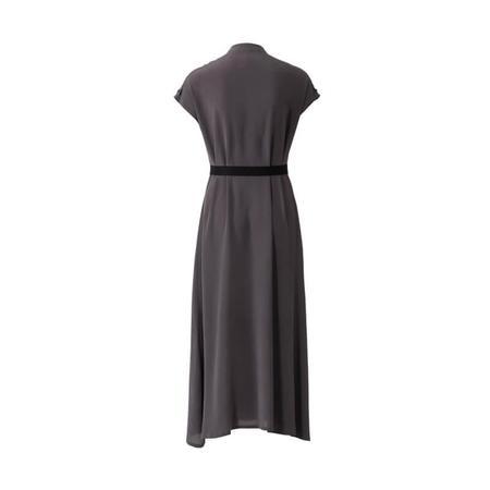 Wykrój BURDA: sukienka zzapięciem na guziki, stójką ifalbankami, fig. 5