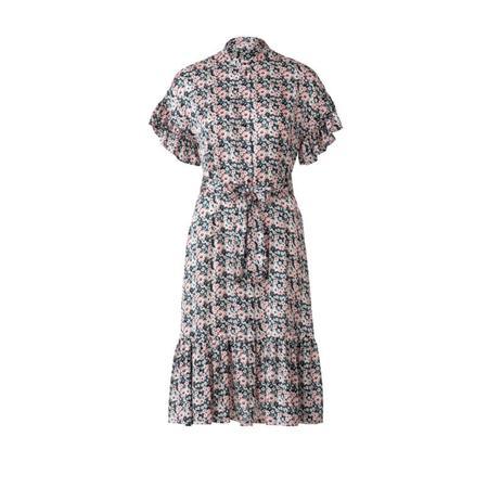 Wykrój BURDA: sukienka zzapięciem na guziki, stójką ifalbankami, fig. 6