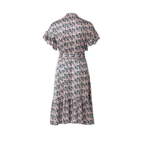 Wykrój BURDA: sukienka zzapięciem na guziki, stójką ifalbankami, fig. 7