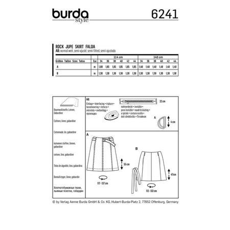 Wykrój BURDA: spódnica zklinów bez doszytego paska, zpaskiem do zapięcia wtalii, fig. 8