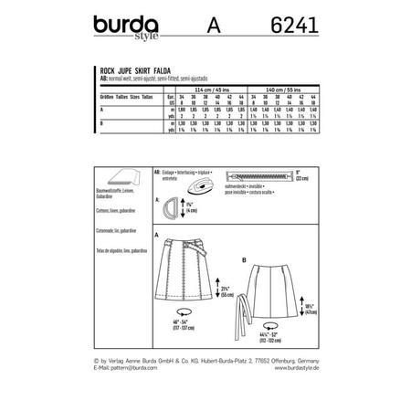 Wykrój BURDA: spódnica zklinów bez doszytego paska, zpaskiem do zapięcia wtalii, fig. 9