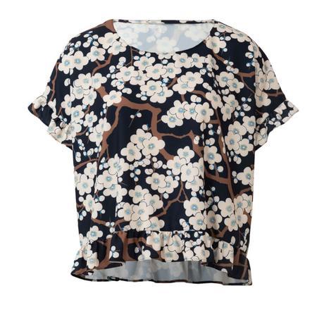 Wykrój BURDA: bluzka zokrągłym dekoltem i falbankami, krój pudełkowy, fig. 6