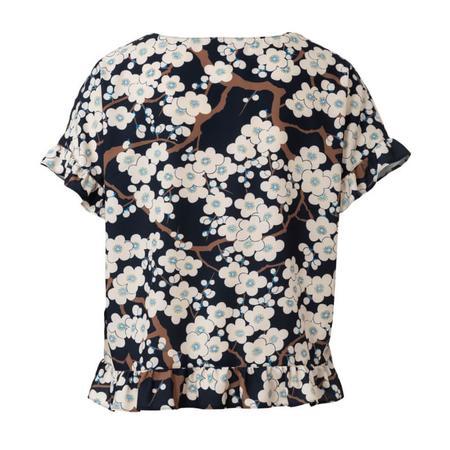 Wykrój BURDA: bluzka zokrągłym dekoltem i falbankami, krój pudełkowy, fig. 7