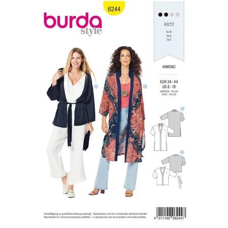 Wykrój BURDA: kimono, płaszcz iżakiet, fig. 1