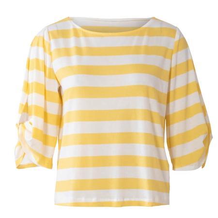 Wykrój BURDA: bluzka ibluza z okrągłym dekoltem i ciekawymi, szerokimi rękawami, fig. 4
