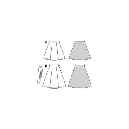 Wykrój BURDA: spódnica zzakładkami o rozszerzanym kroju, fig. 10