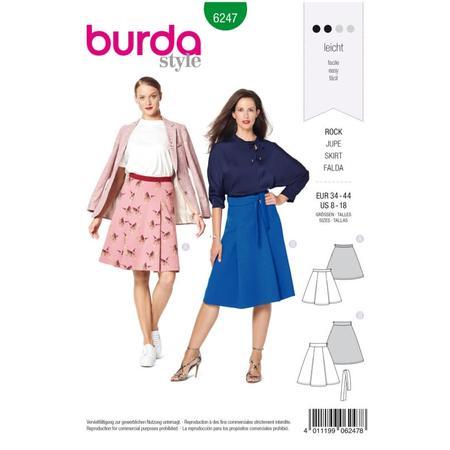 Wykrój BURDA: spódnica zzakładkami o rozszerzanym kroju, fig. 1