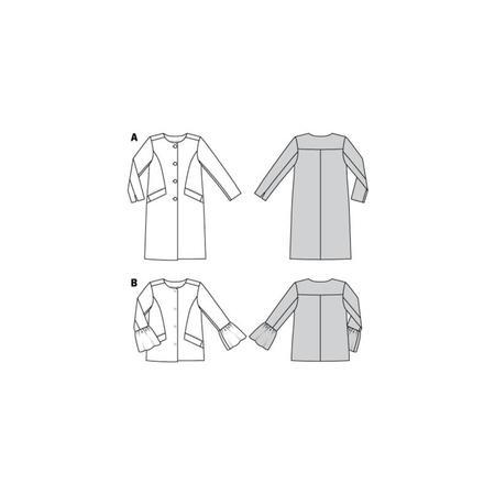 Wykrój BURDA: płaszcz imarynarka bez kołnierza, fig. 10