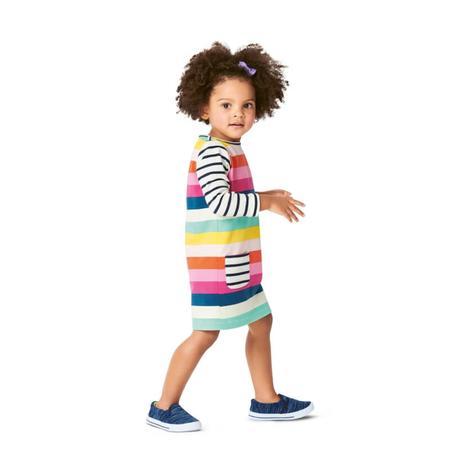 Wykrój BURDA: sukienka t-shirtowa zkieszeniami i sukienka zmarszczoną spódnicą, fig. 3