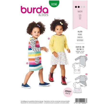 Wykrój BURDA: sukienka t-shirtowa zkieszeniami i sukienka zmarszczoną spódnicą, fig. 1
