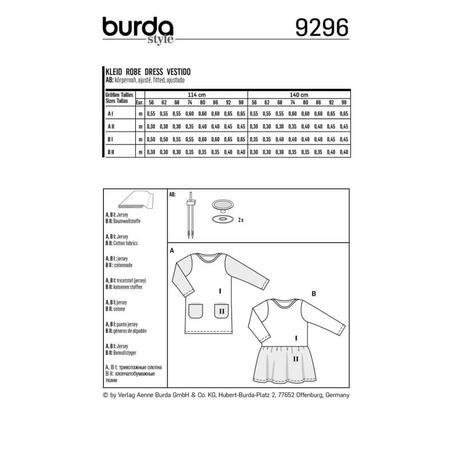 Wykrój BURDA: sukienka t-shirtowa zkieszeniami i sukienka zmarszczoną spódnicą, fig. 8