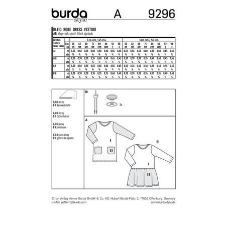 Wykrój BURDA: sukienka t-shirtowa zkieszeniami i sukienka zmarszczoną spódnicą, fig. 9