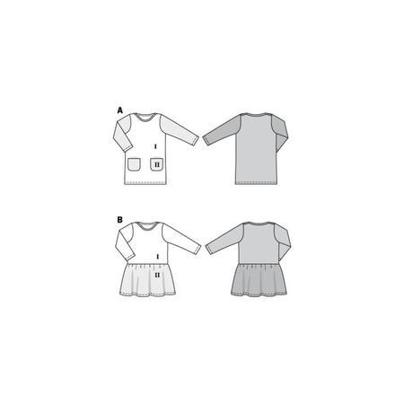 Wykrój BURDA: sukienka t-shirtowa zkieszeniami i sukienka zmarszczoną spódnicą, fig. 10