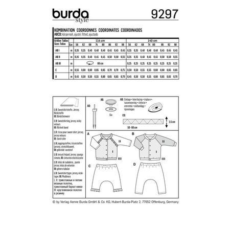 Wykrój BURDA: bluza raglanowa ze stójką + spodnie, fig. 8