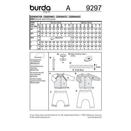 Wykrój BURDA: bluza raglanowa ze stójką + spodnie, fig. 9