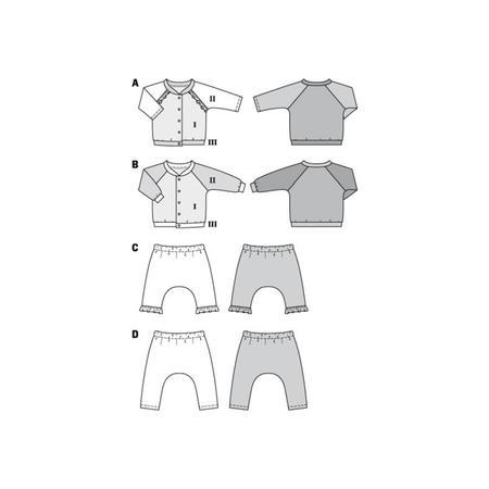 Wykrój BURDA: bluza raglanowa ze stójką + spodnie, fig. 10