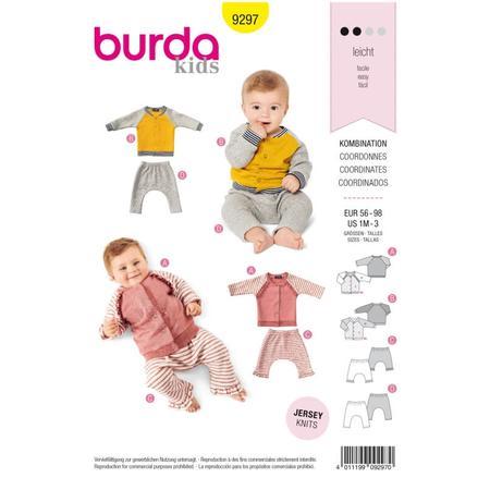 Wykrój BURDA: bluza raglanowa ze stójką + spodnie, fig. 1