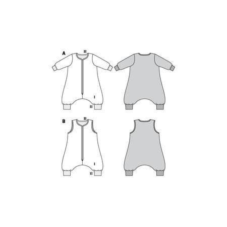 Wykrój BURDA: śpiwór znogawkami, śpiwór - kombinezon, fig. 10