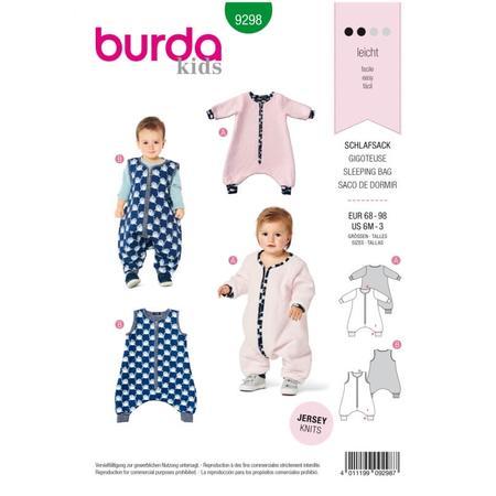 Wykrój BURDA: śpiwór znogawkami, śpiwór - kombinezon, fig. 1