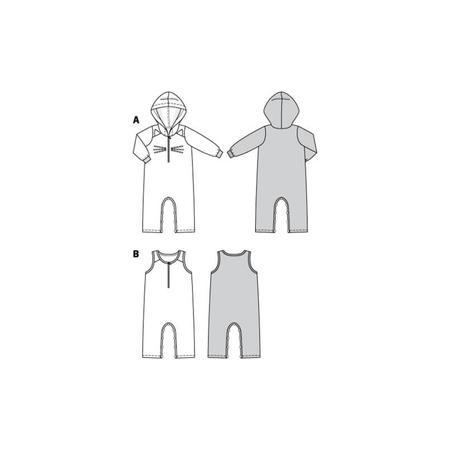 Wykrój BURDA: kombinezon zkapturem z rękawami lub bez rękawów, zzapięciem wkroku, fig. 10
