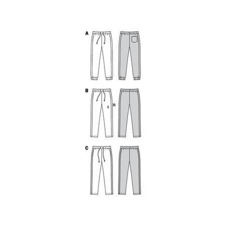 Wykrój BURDA: spodnie do biegania, zgumą wpasie, spodnie dresowe, fig. 10