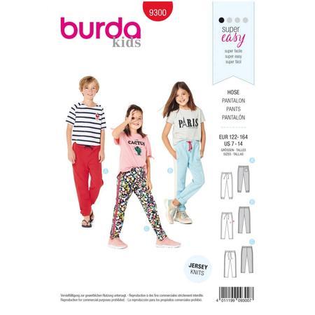 Wykrój BURDA: spodnie do biegania, zgumą wpasie, spodnie dresowe, fig. 1