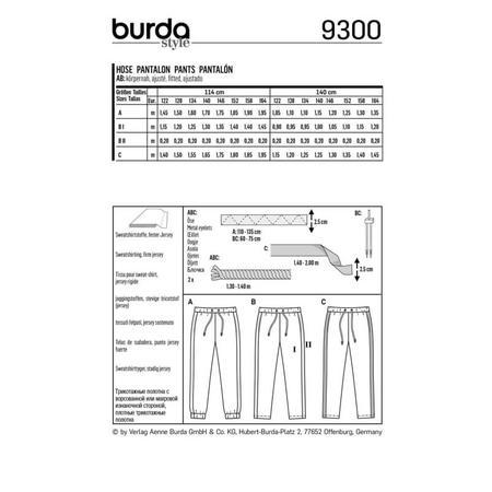 Wykrój BURDA: spodnie do biegania, zgumą wpasie, spodnie dresowe, fig. 8