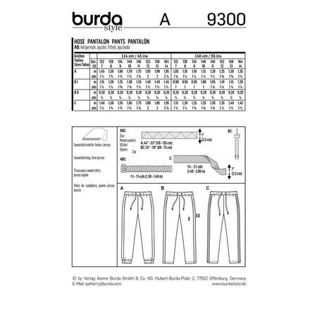 Wykrój BURDA: spodnie do biegania, zgumą wpasie, spodnie dresowe, fig. 9